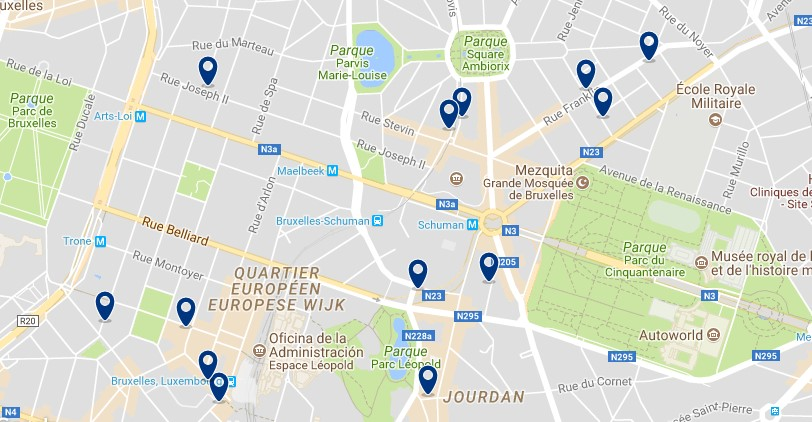 Accommodation in el European Quarter - Click on the map to see all available accommodation in this area
