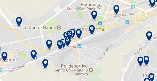 Alojamiento en Fruorigrotta – Clica sobre el mapa para ver todo el alojamiento en esta zona