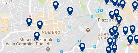 Alojamiento en Vomero – Clica sobre el mapa para ver todo el alojamiento en esta zona