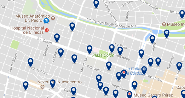 Accommodation near Hospital de Clínicas - Click on the map to see all available accommodation in this area