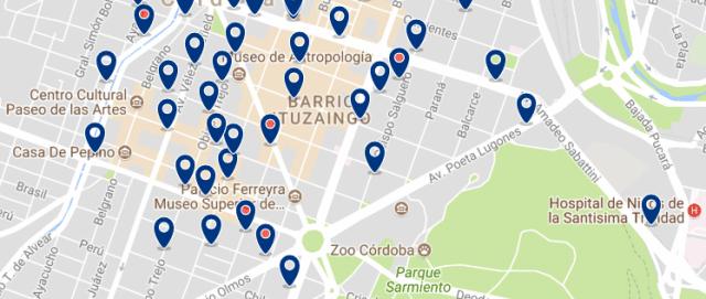 Alojamiento en Nueva Córdoba - Clica sobre el mapa para ver todo el alojamiento en esta zona