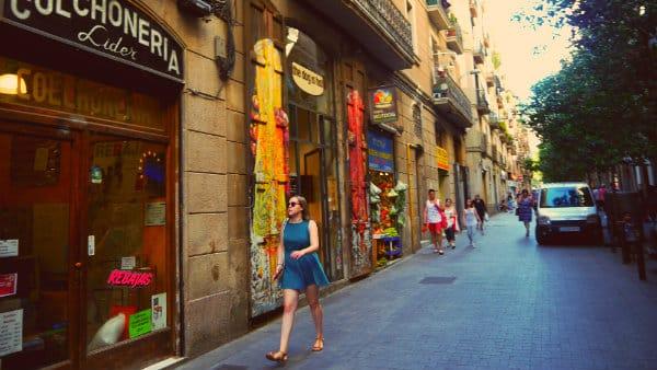 El Raval - Hipster neighbourhood of Barcelona