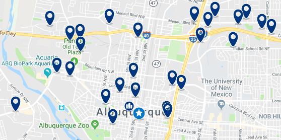Alojamiento en Albuquerque Downtown – Haz clic para ver todo el alojamiento disponible en esta zona