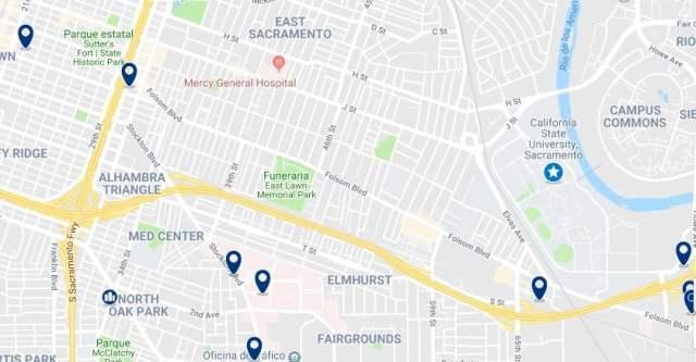 Alojamiento en East Sacramento - Haz clic para ver todo el alojamiento disponible en esta zona