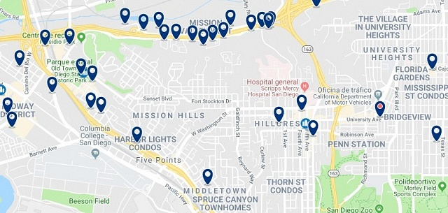 Alojamiento en Hillcrest - Haz clic para ver todo el alojamiento disponible en esta zona