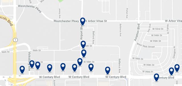 Alojamiento en LAX área– Haz clic para ver todo el alojamiento disponible en esta zona