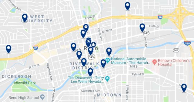 Alojamiento en Reno Downtown – Haz clic para ver todo el alojamiento disponible en esta zona