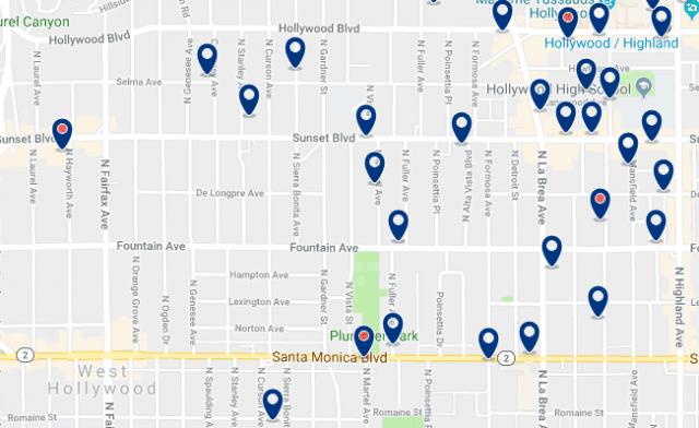 Alojamiento en West Hollywood– Haz clic para ver todo el alojamiento disponible en esta zona