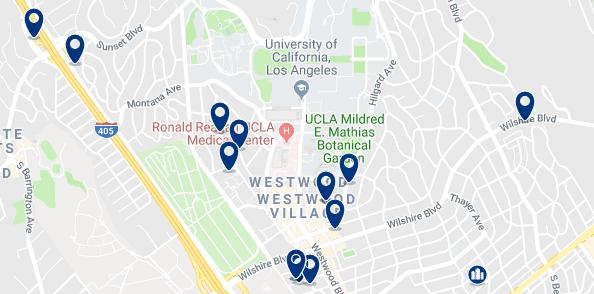 Alojamiento en Westwood L.A - Haz clic para ver todo el alojamiento disponible en esta zona