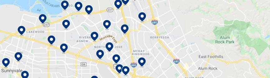 Alojamiento en North San Jose - Haz clic para ver todos el alojamiento disponible en esta zona