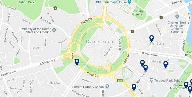 Alojamiento cerca de Australian Parliament - Haz clic para ver todo el alojamiento disponible en esta zona