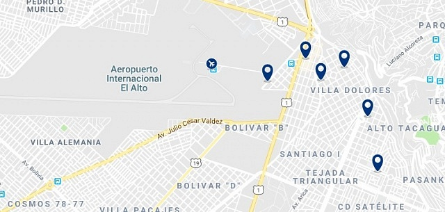 Accommodation near Aeropuerto Internacional El Alto - Click on the map to see all accommodation in this area