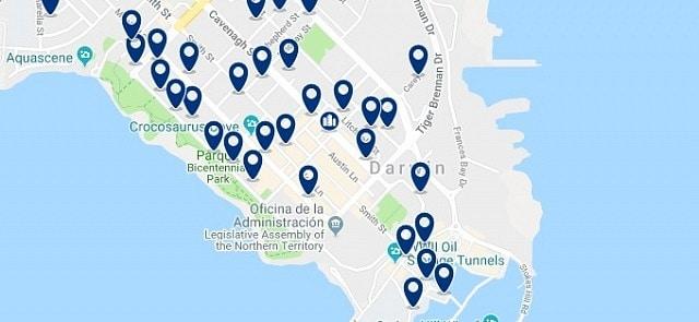 Alojamiento en Darwin CBD - Haz clic para ver todo el alojamiento disponible en esta zona