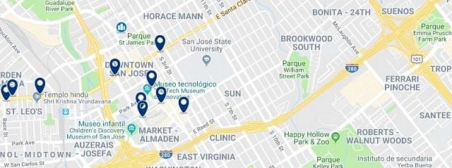 Alojamiento en Downtown San Jose - Haz clic para ver todo el alojamiento disponible en esta zona