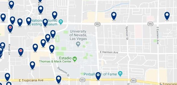 Alojamiento en East of Las Vegas Strip - Haz clic para ver todo el alojamiento disponible en esta zona