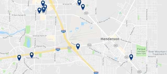 Alojamiento en Henderson - Haz clic para ver todo el alojamiento disponible en esta zona