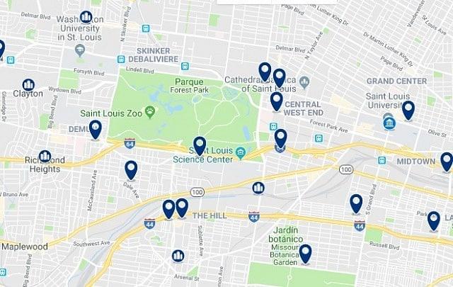 Alojamiento en Midtown St. Louis - Haz clic para ver todo el alojamiento disponible en esta zona