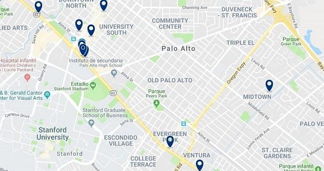Alojamiento en Palo Alto - Haz clic para ver todo el alojamiento disponible en esta zona