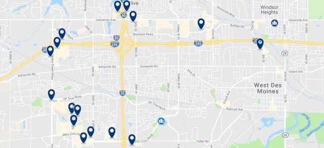 Alojamiento en West Des Moines - Haz clic para ver todo el alojamiento disponible en esta zona