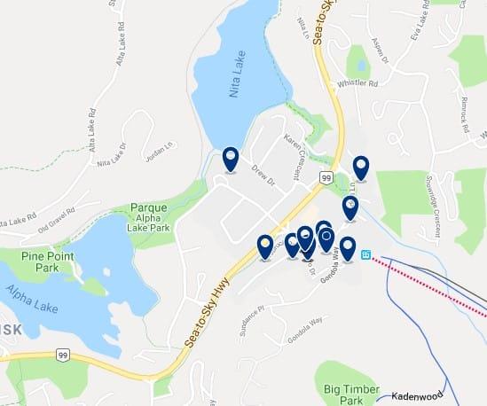 Alojamiento en Creekside - Haz clic para ver todo el alojamiento disponible en esta zona