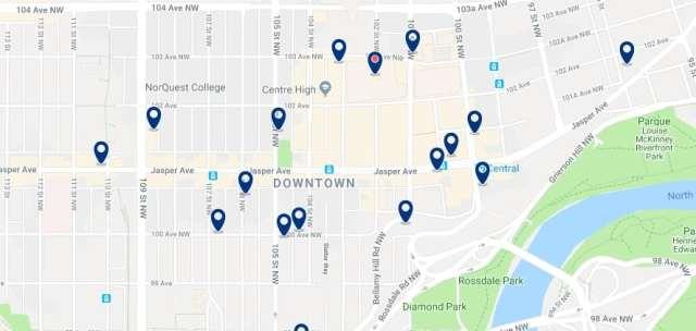 Alojamiento en Downtown Edmonton - Haz clic para ver todo el alojamiento disponible en esta zona