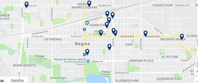 Alojamiento en Downtown Regina - Haz clic para ver todo el alojamiento disponible en esta zona