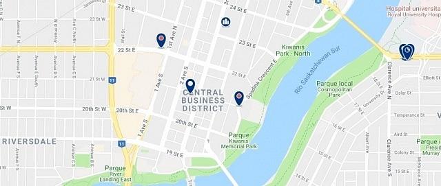 Alojamiento en Downtown Saskatoon - Haz clic para ver todo el alojamiento disponible en esta zona