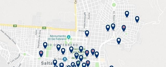 Alojamiento en Salta Norte - Haz clic para ver todo el alojamiento disponible en esta zona