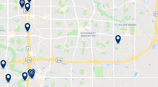 Alojamiento en Southeast Edmonton - Haz clic para ver todo el alojamiento disponible en esta zona