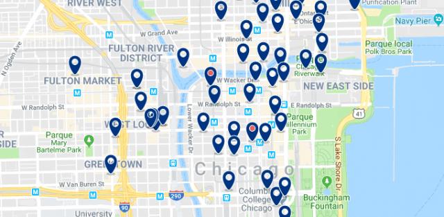 Alojamiento en West Loop - Clica sobre el mapa para ver todo el alojamiento en esta zona