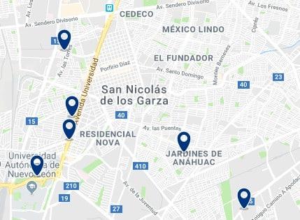 Alojamiento en San Nicolás de los Garza – Haz clic para ver todo el alojamiento disponible en esta zona