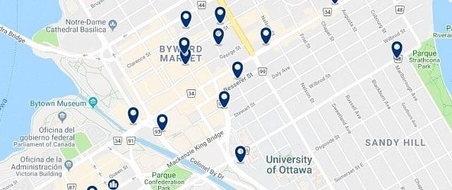 Alojamiento en Byward Market - Haz clic para ver todo el alojamiento disponible en esta zona