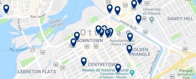 Alojamiento en Downtown Ottawa - Haz clic para ver todo el alojamiento disponible en esta zona