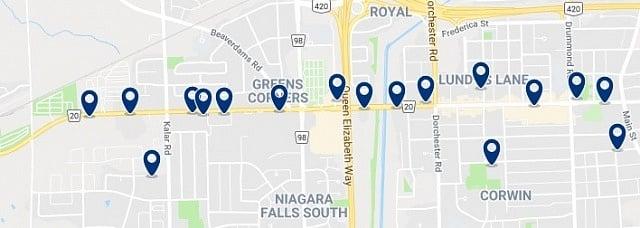 Alojamiento en Lundy's Lane - Haz clic para ver todo el alojamiento disponible en esta zona