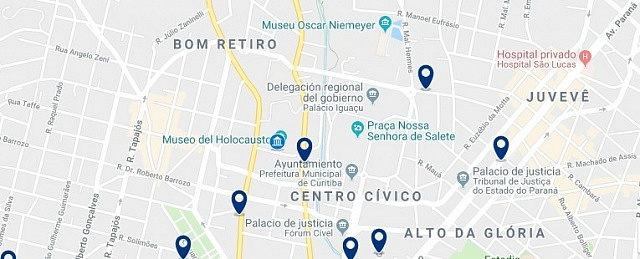 Accommodation in Bom Retiro - Click on the map to see all available accommodation in this are
