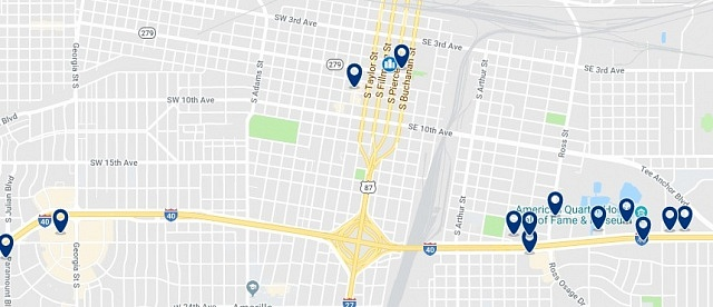 Alojamiento en Downtown Amarillo - Haz clic para ver todo el alojamiento disponible en esta zona