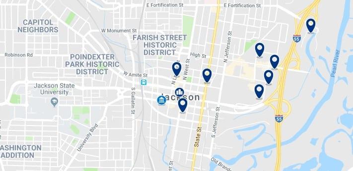Alojamiento en Downtown Jackson, MS - Haz clic para ver todos el alojamiento disponible en esta zona