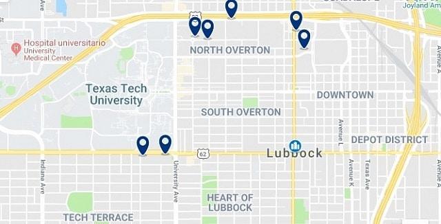 Alojamiento en Downtown Lubbock - Haz clic para ver todo el alojamiento disponible en esta zona