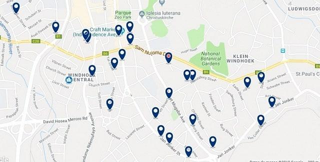 Alojamiento en East Windhoek - Haz clic para ver todo el alojamiento disponible en esta zona