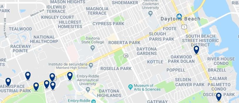 Alojamiento en Downtown Daytona Beach - Haz clic para ver todo el alojamiento disponible en esta zona