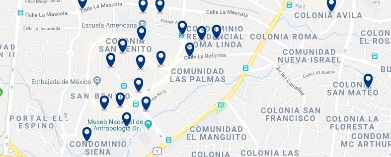 Alojamiento en San Salvador Sudoeste - Haz clic para ver todos el alojamiento disponible en esta zona