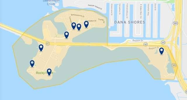 Alojamiento en Tampa Bay - Haz clic para ver todo el alojamiento disponible en esta zona