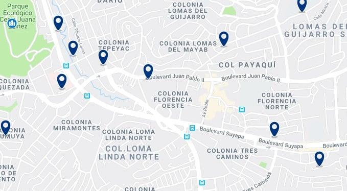 Alojamiento cerca del Mall Multiplaza - Haz clic para ver todos el alojamiento disponible en esta zona
