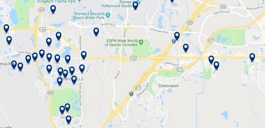 Alojamiento en Celebration - Cerca de DisneyWorld - Haz clic para ver todos el alojamiento disponible en esta zona