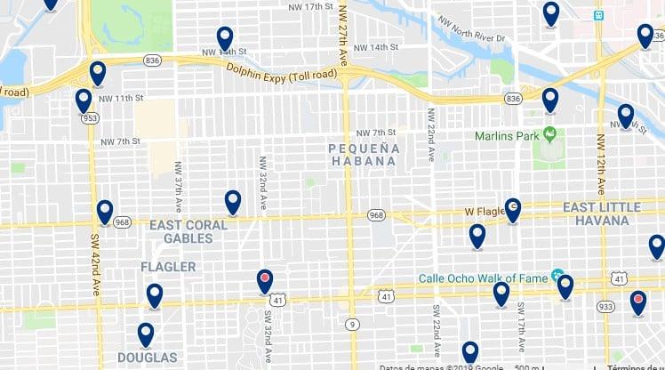 Alojamiento en Little Havana - Haz clic para ver todos el alojamiento disponible en esta zona