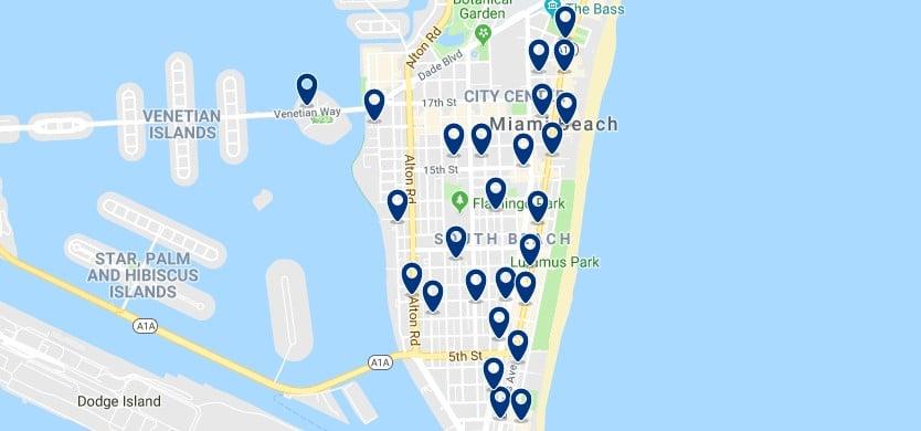Alojamiento en South Beach - Haz clic para ver todos el alojamiento disponible en esta zona