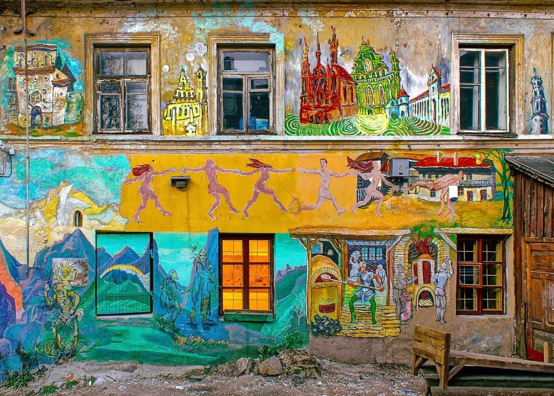 Zona alternativa donde alojarse en Vilna Lituania - Uzupis