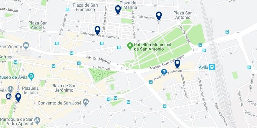 Alojamiento cerca de la estación de trenes de Ávila - Haz clic para ver todos el alojamiento disponible en esta zona