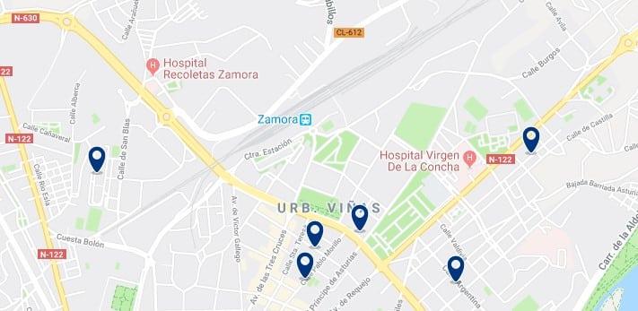 Alojamiento cerca de la estación de trenes de Zamora - Haz clic para ver todos el alojamiento disponible en esta zona