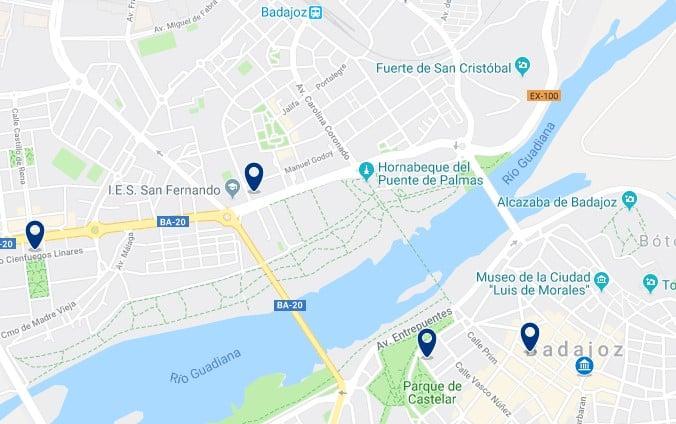 Alojamiento en el Centro de Badajoz - Haz clic para ver todos el alojamiento disponible en esta zona